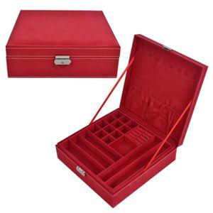 BOITE A BIJOUX boîte à bijoux Rangement Colliers Organisateur Ann