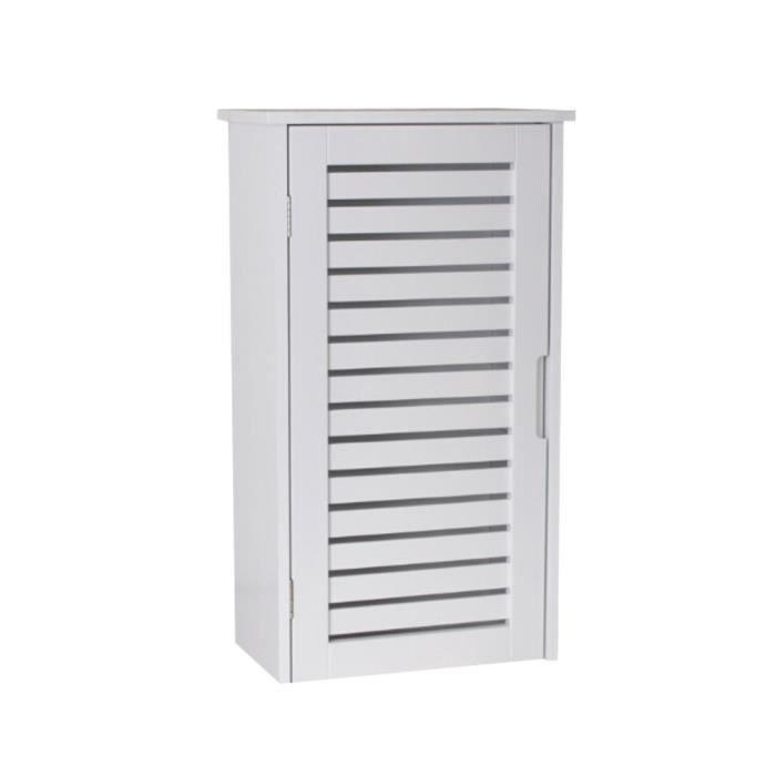 Meuble haut salle de bain bois blanc - Achat / Vente armoire de ...