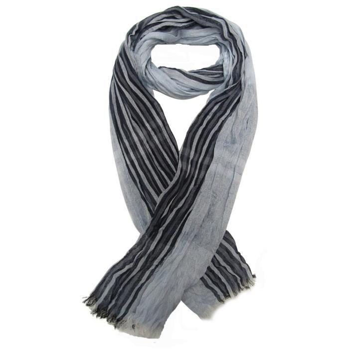 Foulard, chèche écharpe pour homme bleu clair dominant, 180 x 60 cm ... f54d9ca8dda