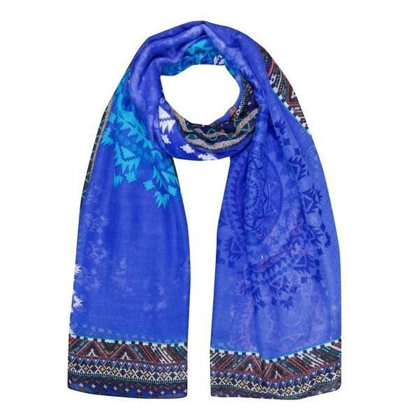 87a612112995 Foulard Desigual Bleu AFRICAN ART 50W53A2   5040 - Achat   Vente ...