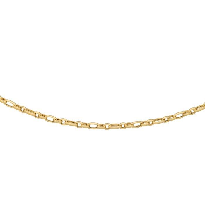 DIAMANTLY Collier maille ovale alternee 1-2 6.1 mm or 375-1000 - 46.0 cm