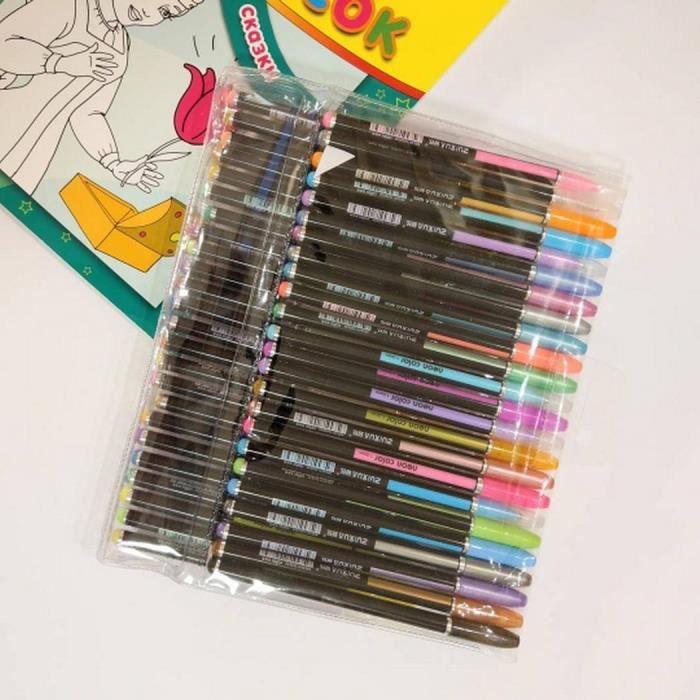 Stylo - Parure 48Pcs Peinture Dessin Paillettes Colorées Stylos M
