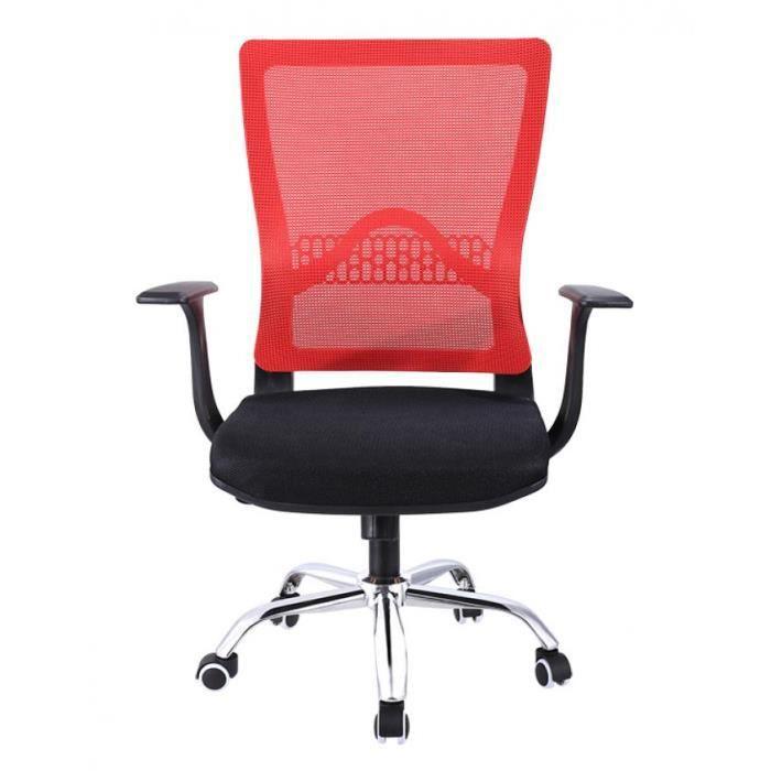 Tâche Rouge Et Chaise Noir Bureau Maille Siège De Réglable Exécutive 5c4RjLq3AS