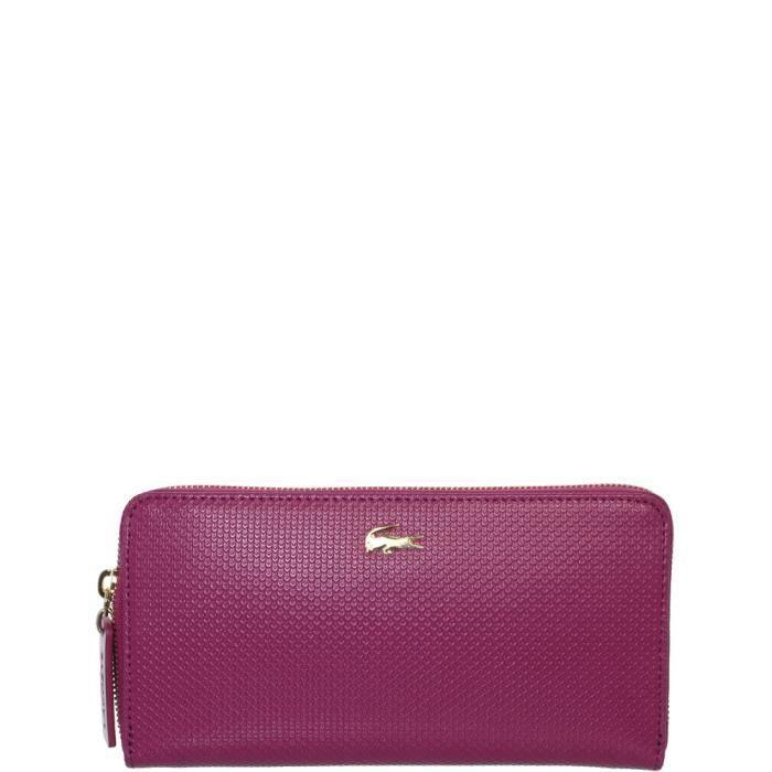 Compagnon Lacoste en cuir ref_cem36449-832-boysenberry Violet