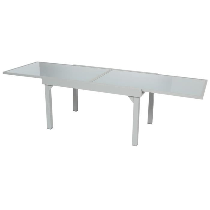 DimL Table De Extensible Mat 10 En AluminiumSilver Places 270 jARL35q4