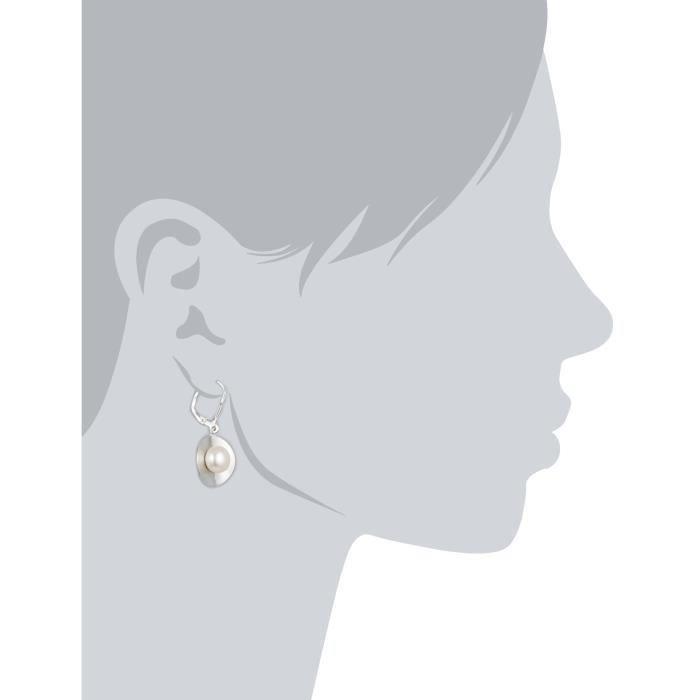 Perles - 273230101-1 - Boucles Doreilles Femme - Argent Fin 925-1000 - Perle Deau Douce Q1KMD