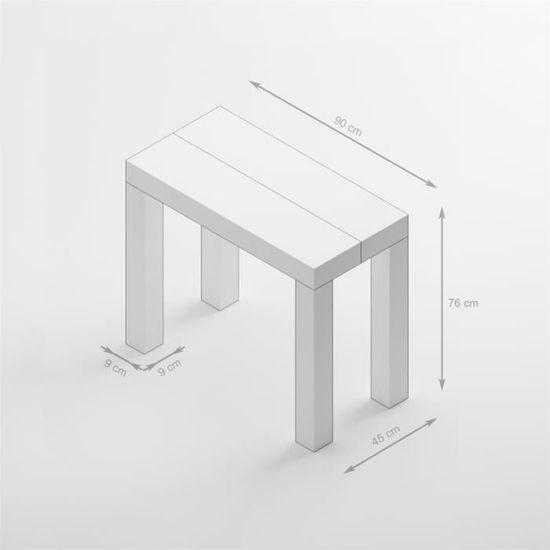 Blanc FirstFrêne Blanc Extensible FirstFrêne Console Console Table Table Extensible Table dxoeBrC