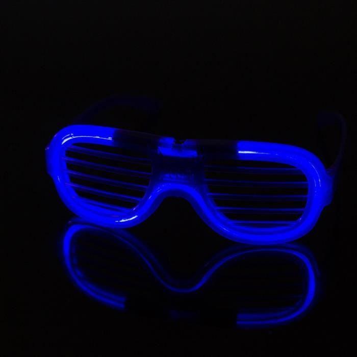 Lnt 277 Lunettes soleils Rouge, bleu, vert, volets blancs Lumière froide lumières LED flash de vacances Produits de vacances