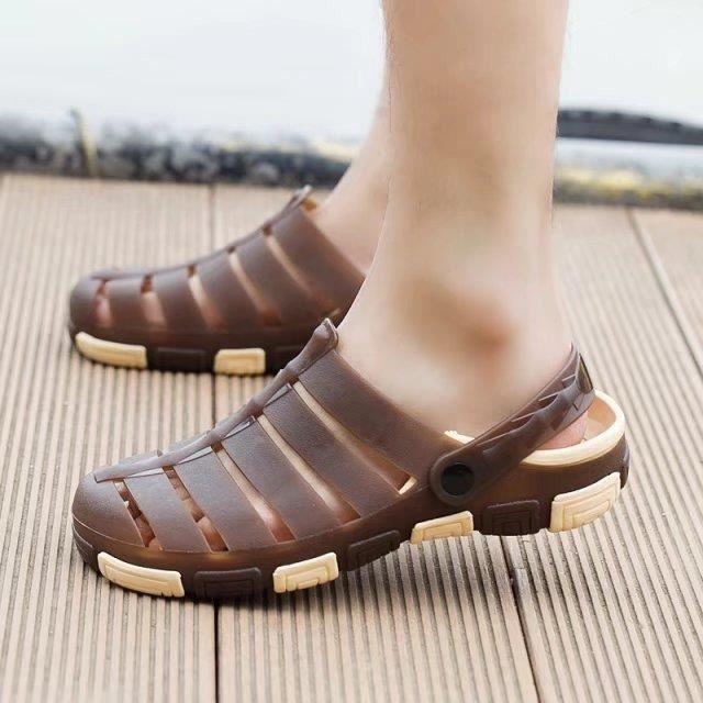 Sandales Hommes Peep-orteil Plage Chaussures Cuir Des Sandales Pour Été.. c3Sb5HyirC