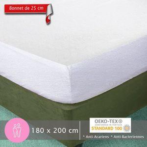 PROTÈGE MATELAS  Protège Matelas 180x200cm - Bonnet de 25 cm pour 2