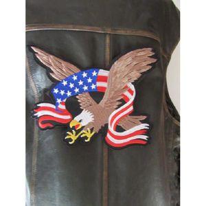 ACCESSOIRE CASQUE patch dorsal  aiglebanderole USA 26 cm x 22 cm bik