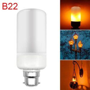 AMPOULE - LED Ampoule B22 6.5W Lumière LED effet de la flamme Fl