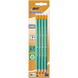 CRAYON GRAPHITE BIC Evolution Original Crayons à Papier avec Gomme