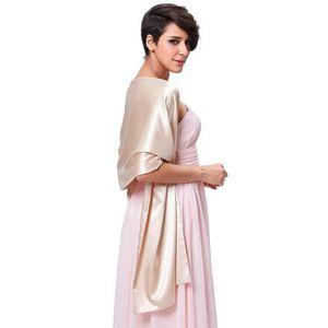 a811d5572335 ECHARPE - FOULARD Femme Satin écharpe Châle Foulard Etole Pour Robes