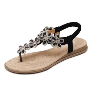 5df52b1ce39b9e SANDALE - NU-PIEDS Minetom Femme Été Plage Chaussures Bohemian Perles ...