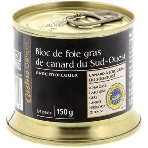 FOIE GRAS CASINO DELICES Bloc de foie gras de canard 30% - 1