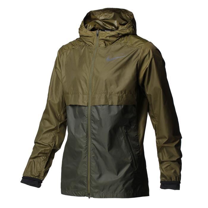 acheter en ligne 88bbf b4755 NIKE Veste Shield - Homme - Vert kaki