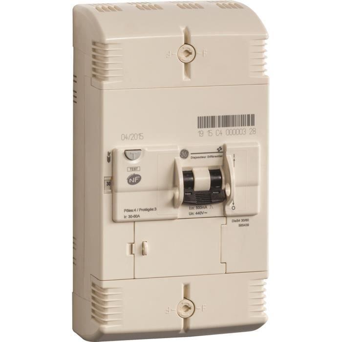 AEG Disjoncteur de branchement différentiel 4 Pôles 30-60 A Instantané