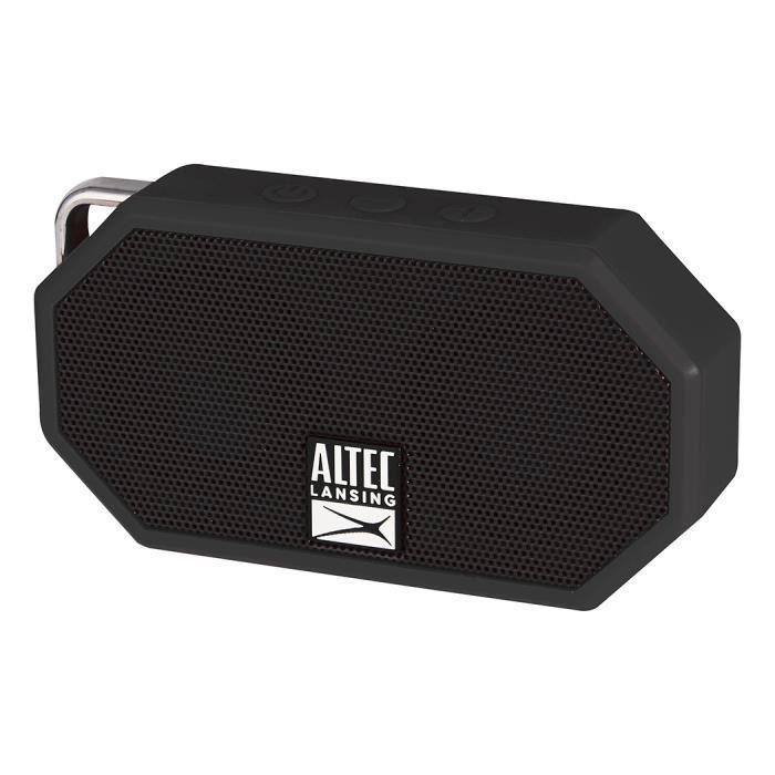 ALTEC Enceinte mini H2O - ip 67 - 3,5 mm microphone - NoirENCEINTE NOMADE - HAUT-PARLEUR NOMADE - ENCEINTE PORTABLE - ENCEINTE MOBILE - ENCEINTE BLUETOOTH - HAUT-PARLEUR BLUETOOTH