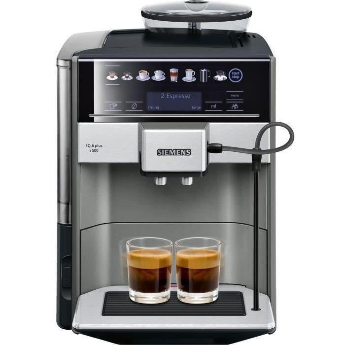 SIEMENS TE655203RW Machine à café expresso entièrement automatique EQ6 plus S500 - Anthracite