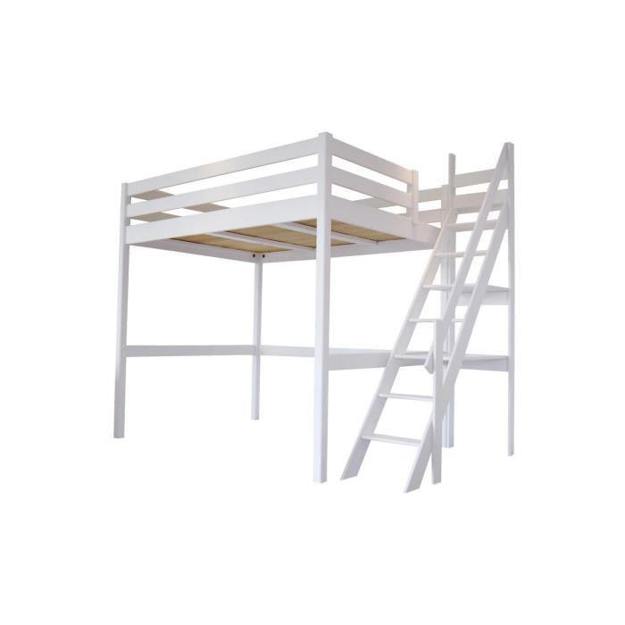 Lit Mezzanine Sylvia 140200 Avec Escalier De Meunier Achat