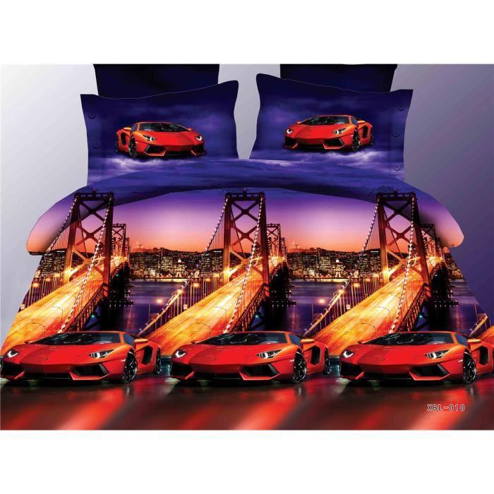 parure de lit 4 sets de housse de couette 200x230cm 2. Black Bedroom Furniture Sets. Home Design Ideas