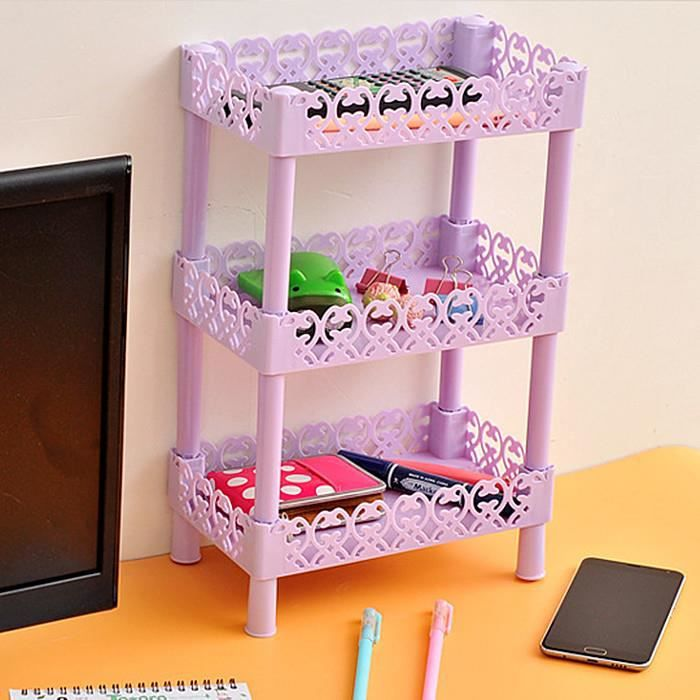 meuble de rangement trois tag res carr porte accessoire pour salle de bain ou cuisine violet. Black Bedroom Furniture Sets. Home Design Ideas