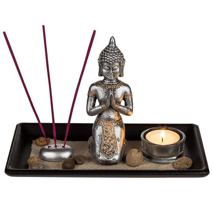 Jardin zen avec bouddha bougie achat vente jardin zen for Jardin japonais zen avec galets et bougies