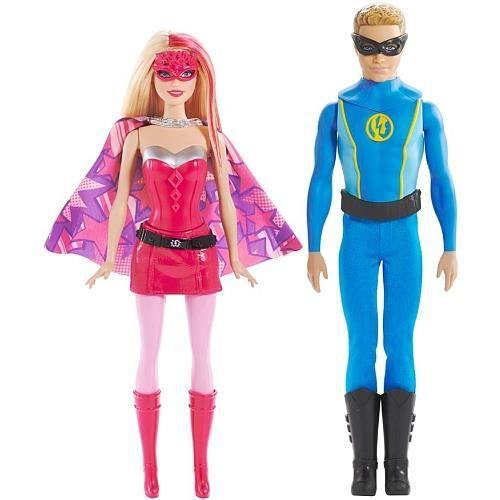Poup e barbie et ken super h ros achat vente poup e cdiscount - Image barbie et ken ...