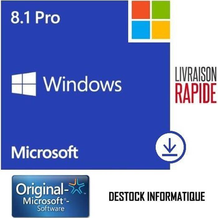 SYST EXPLOIT À TÉLÉCHARGER Windows 8.1 Pro / Professionnel 32/64 bits - Livra