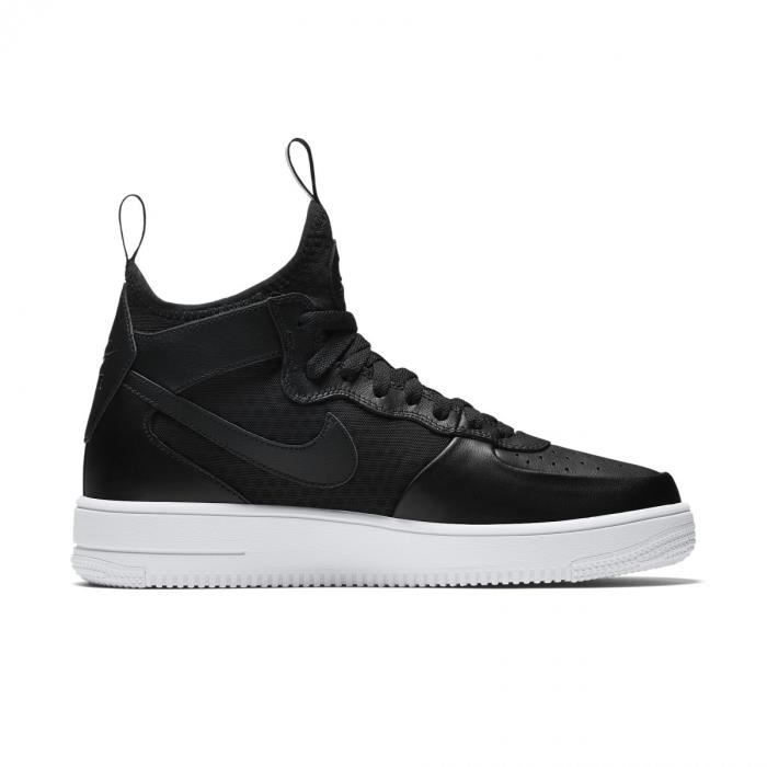 Basket Nike Air Force 1 Ultra Force Mid - 864014-001 Noir Noir ... 597edd367afc