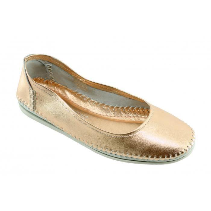 Zenni – Chaussures Zen pour femme ballerine Feng Shui souple et confortable semelle matelassée avec absorbeur de choc cuir rose
