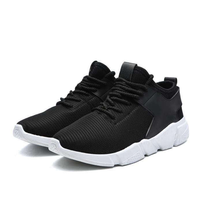 Baskets Homme Chaussures De Course Run Masculines Respirante Sport Chaussures - Noir QpaLpogoD