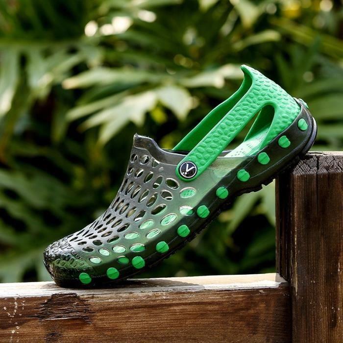 Chaussons pour Hommevert clair 41 4 couleurs d'été antiusure Sandales Chaussons Chaussures_47917