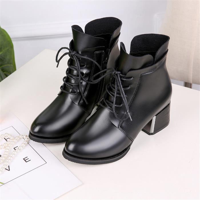 Femmes Qualit Bottines 2018 Jyx Couleur Extravagant Haut Noir 39 Chaussures Unie 35 Antidrapant dEEqfr