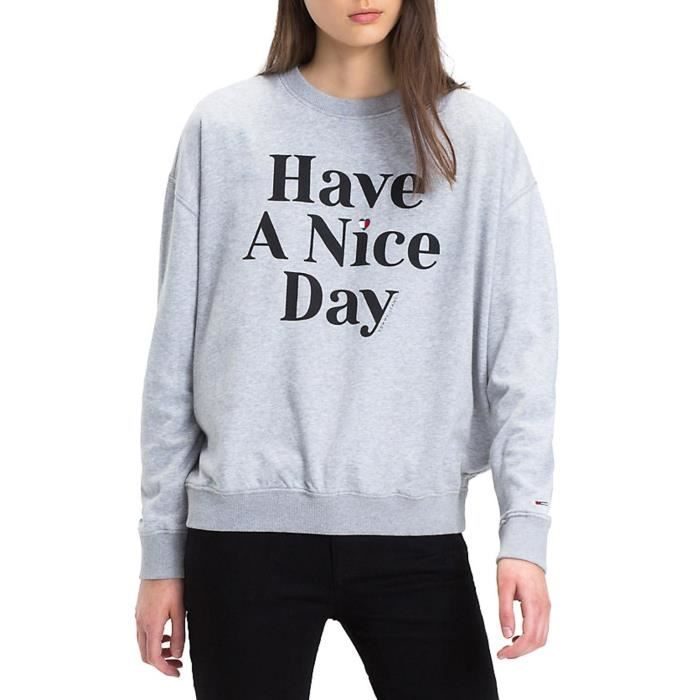 Have Day Gris Achat A Nice Vente Jeans Sweat Tommy 29IHEWD