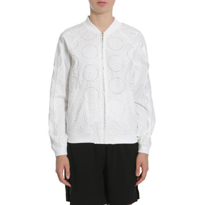 S27abb110161000 Coton Blanc Femme Blouson Ceremony Opening Bx1E4x