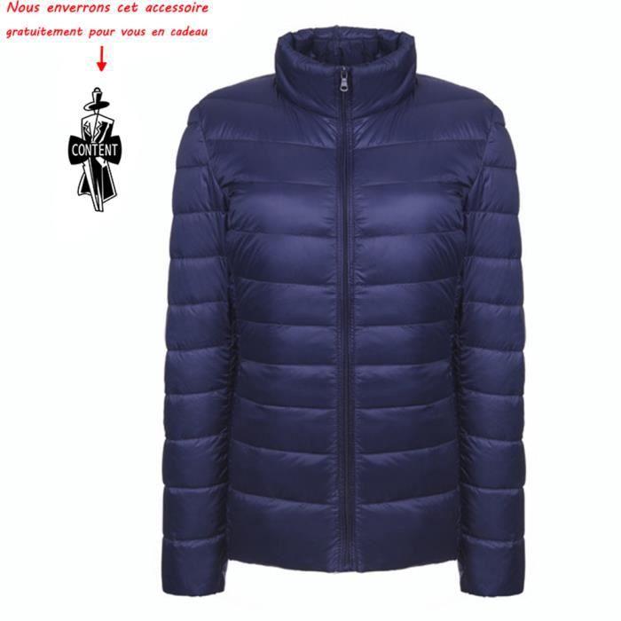 Vêtements Pour Montant Femme De Manteau Col Blouson Ultra Duvet En Veste Léger Doudoune Marque CFgHqC