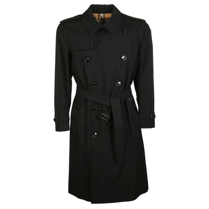 598b8dd40 BURBERRY HOMME 4073485 NOIR COTON TRENCH COAT Noir Noir - Achat ...