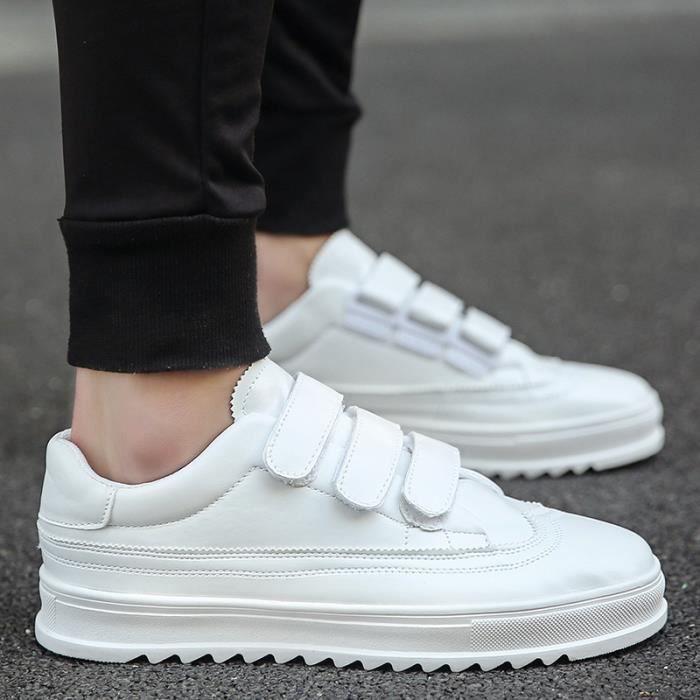 Augmentation de skate automne taille42 Skateshoes solide Été couleur blanc Velcro Homme interne qBwt0ZT