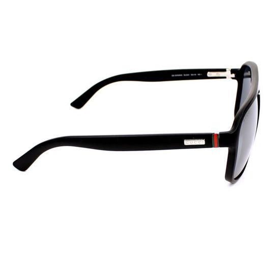 b8cc677094e Lunettes de soleil Gucci GG 1076-N-S -DL54X Noir mat - Achat   Vente  lunettes de soleil Homme Adulte Noir - Cdiscount