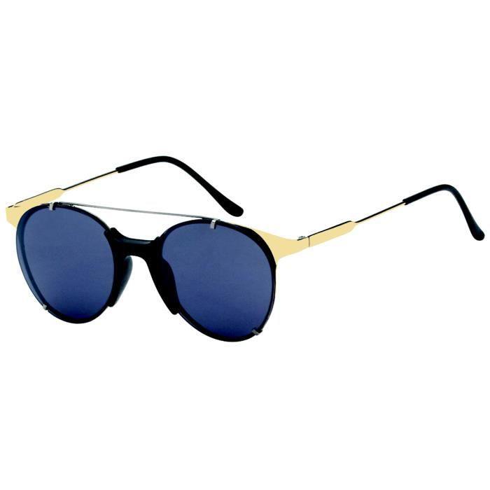 LUNETTES SOLEIL Métal SuperFutur fine Gold Black Acier Titane Créateur Populaire