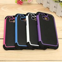 COQUE - BUMPER Shockproof Hybrid Dual Layer TPU + PC Case For HTC