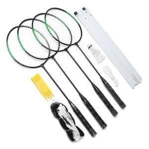 KIT BADMINTON GREENH Kit Raquette de Badminton Pr 4 Personnes En