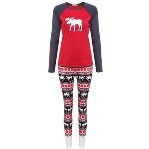 PYJAMA vêtements de nuit Femme pour les pyjamas Noël clas ... 742f5c18339