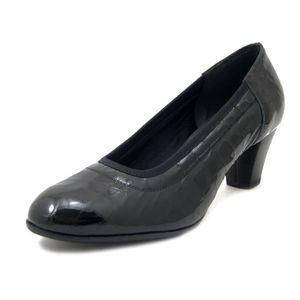 ESCARPIN Escarpin Chaussures, cuir brillant noir, talon 5cm