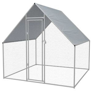 POULAILLER Cage extérieure pour poulets Acier galvanisé 2 x 2