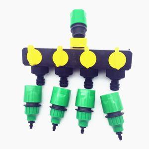 ROBINET - RACCORD 1 Set 4 Way Shunt Connecteur de tuyau d'eau Déviat