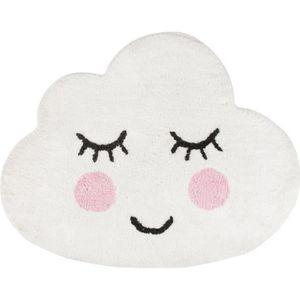 TAPIS Tapis Nuage Sweet Dreams Smiling Blanc