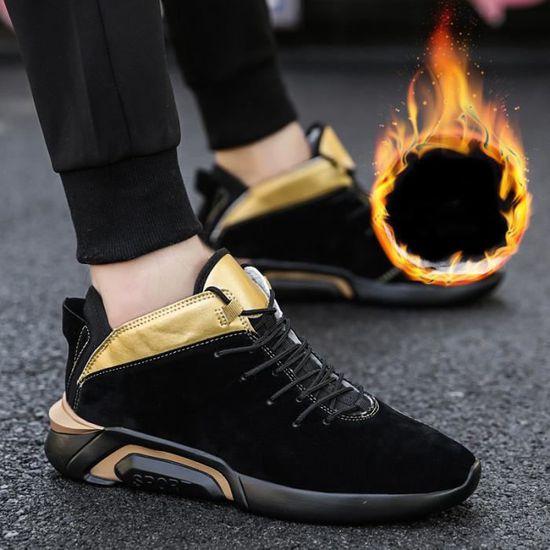 low cost df15b 81c37 Hommes Basket Mode Extravagant Chaussures de sport Respirant Homme Chaussure  DéContractéEs Des basket Grande Taille,jaune,41 Jaune Jaune - Achat   Vente  ...